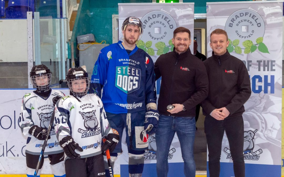 EDSB supporting the Sheffield Steeldogs recent Cup win!