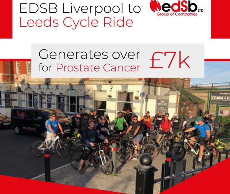 EDSB Liverpool to Leeds Cycle Ride generates over £7k for Prostate Cancer